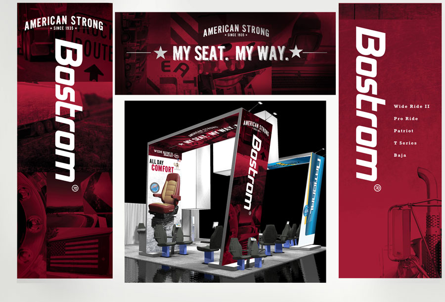 National and Bostrom Trade Show Booth Display